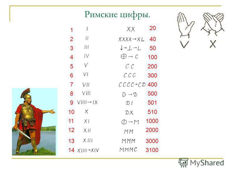 Римские цифры. 1 3 2 4 5 6 7 8 9 11 10 12 13 14 40 50 100 200 300 400 500 501 510 1000 2000 3000 3100 20