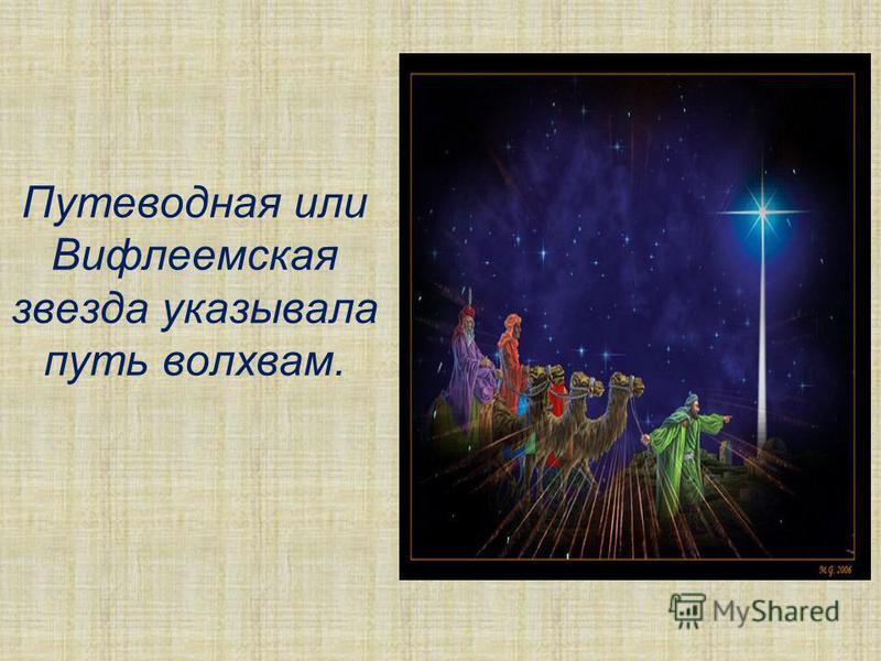Путеводная или Вифлеемская звезда указывала путь волхвам.