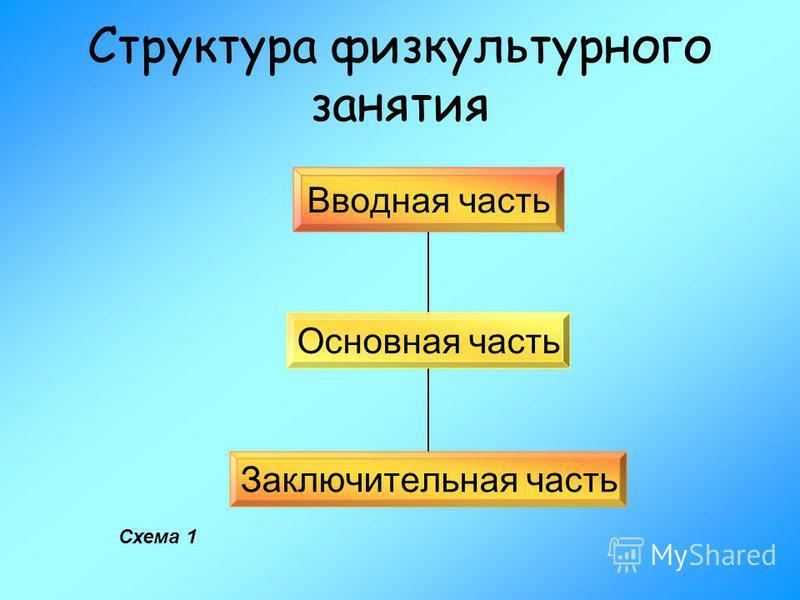 Схема построения физкультурного занятия