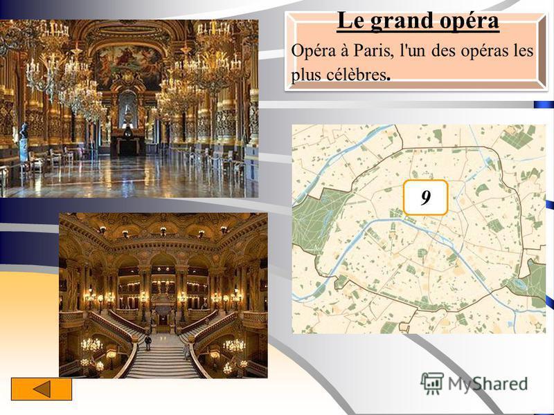 Le grand opéra Opéra à Paris, l'un des opéras les plus célèbres. 9