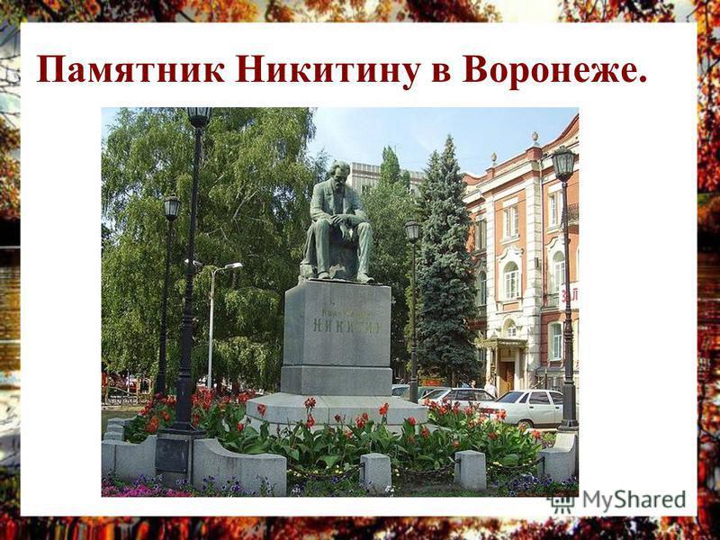Памятник Никитину в Воронеже.