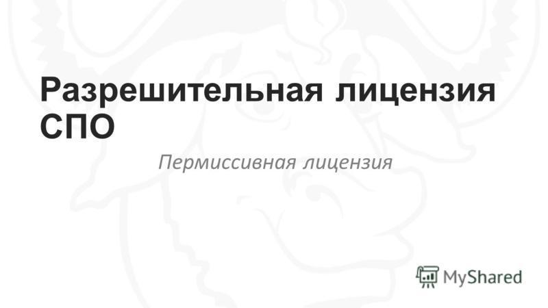Разрешительная лицензия СПО Пермиссивная лицензия