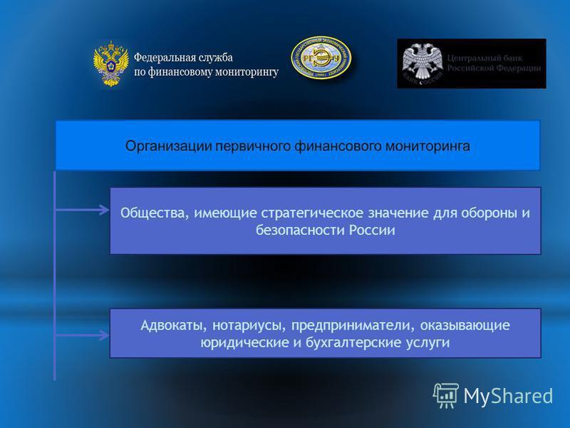 Общества, имеющие стратегическое значение для обороны и безопасности России Адвокаты, нотариусы, предприниматели, оказывающие юридические и бухгалтерские услуги