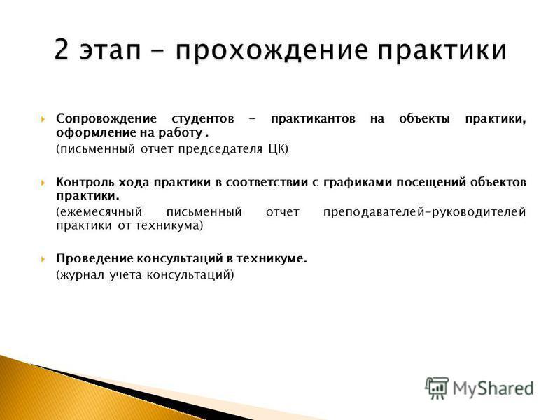 Презентация на тему Организация проведение и контроль  15 Сопровождение студентов