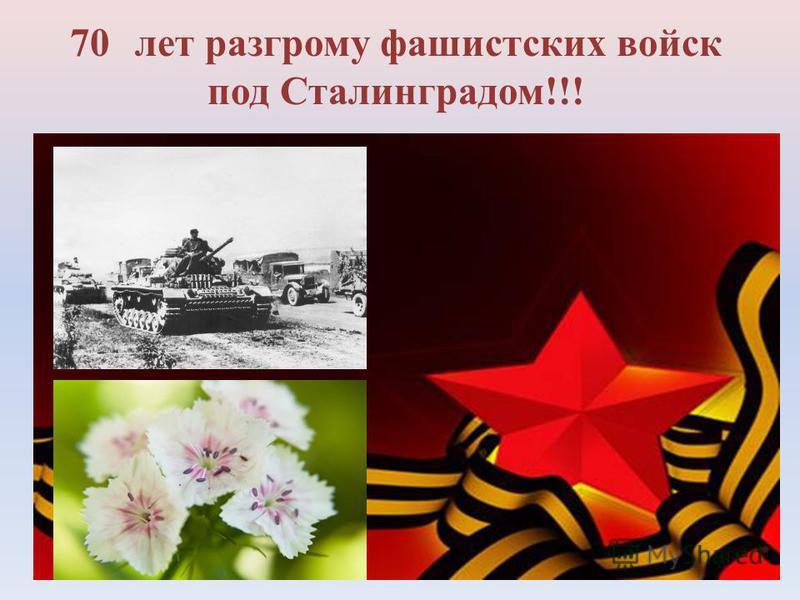 70 лет разгрому фашистских войск под Сталинградом!!!