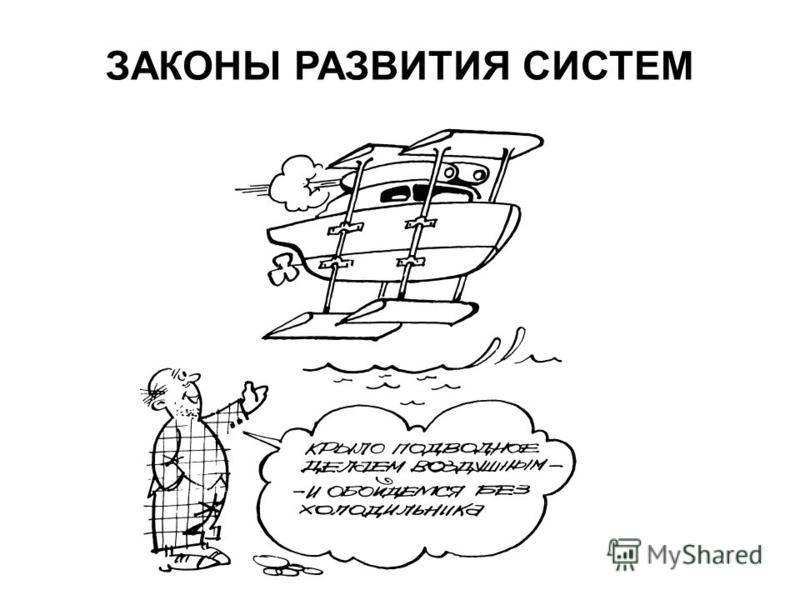 ЗАКОНЫ РАЗВИТИЯ СИСТЕМ.  Источник презентации: http://chizhik.ucoz.ru/load/for_engineers/sistemy_ikh_svojstva_kibernetika/1-1-0-126