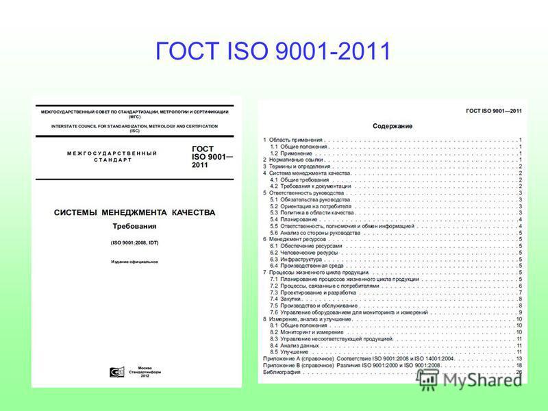 ГОСТ ISO 9001-2011