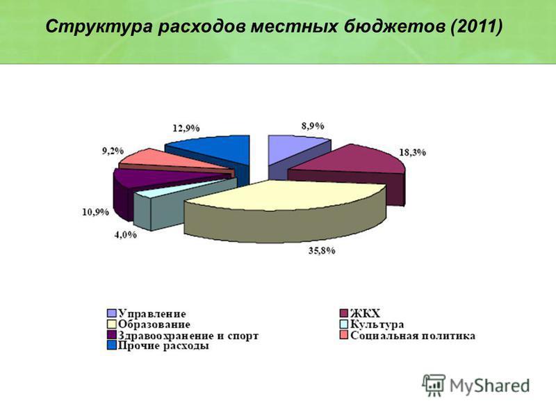 Структура расходов местных бюджетов (2011)
