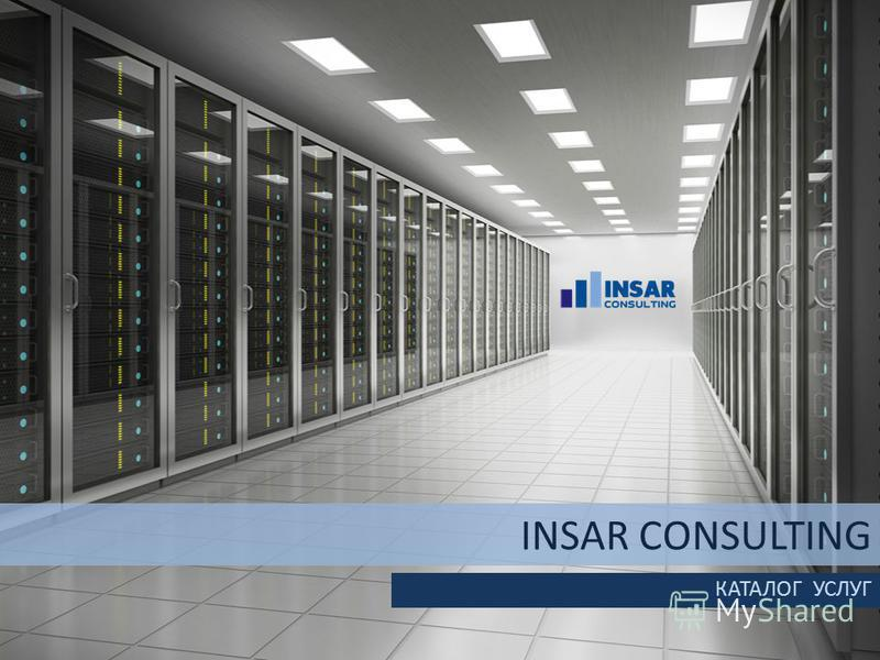 INSAR CONSULTING КАТАЛОГ УСЛУГ