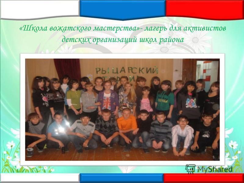 «Школа вожатского мастерства»- лагерь для активистов детских организаций школ района