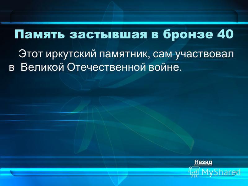 Память застывшая в бронзе 40 Этот иркутский памятник, сам участвовал в Великой Отечественной войне. Назад