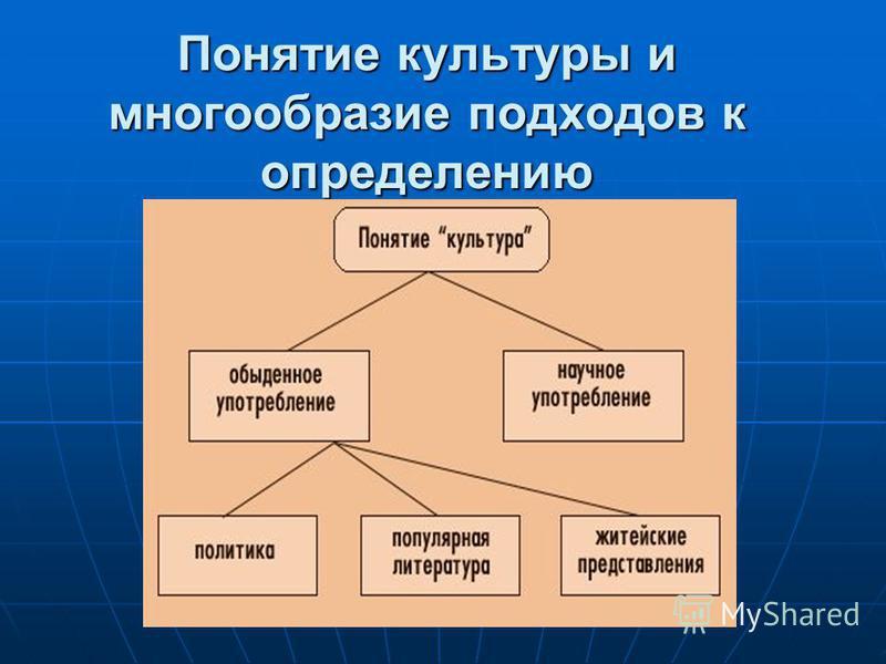 Понятие культуры и многообразие подходов к определению