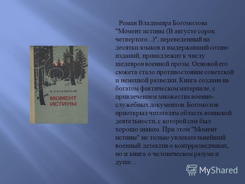 Роман Владимира Богомолова