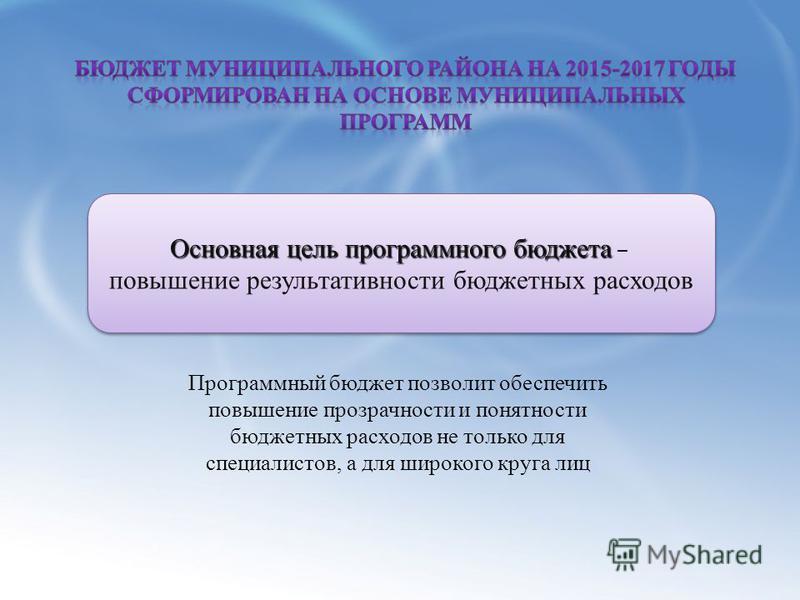 Субъекты Российской Федерации Основная цель программного бюджета Основная цель программного бюджета – повышение результативности бюджетных расходов Основная цель программного бюджета Основная цель программного бюджета – повышение результативности бюд