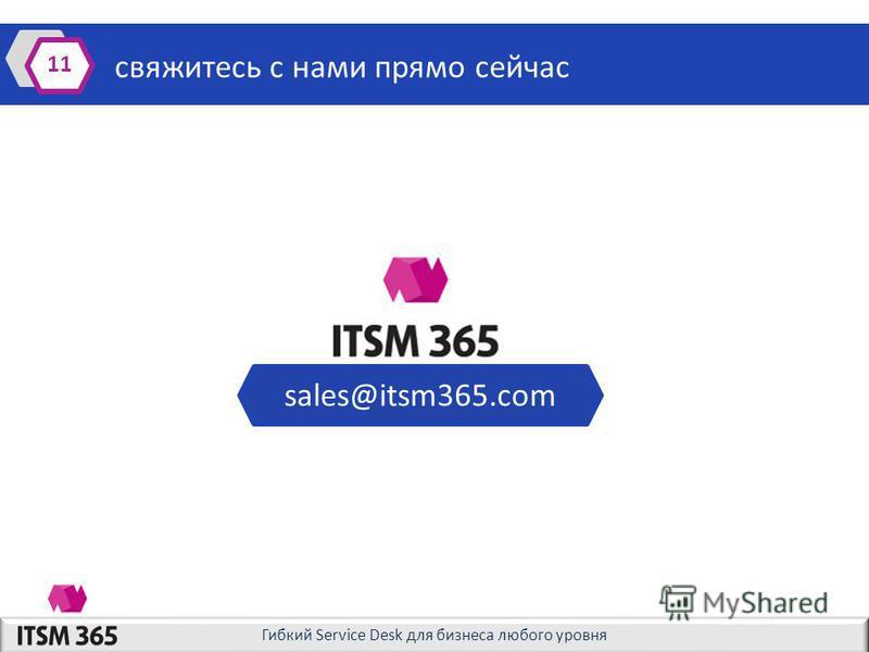 Гибкий Service Desk для бизнеса любого уровня свяжитесь с нами прямо сейчас 11 sales@itsm365.com