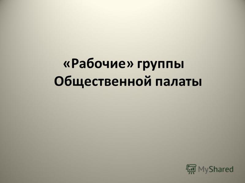 «Рабочие» группы Общественной палаты