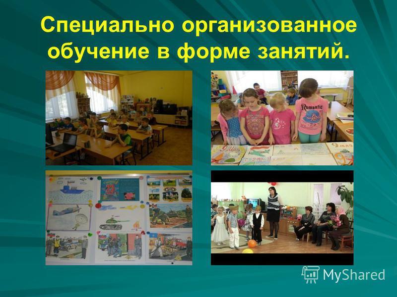 Специально организованное обучение в форме занятий.