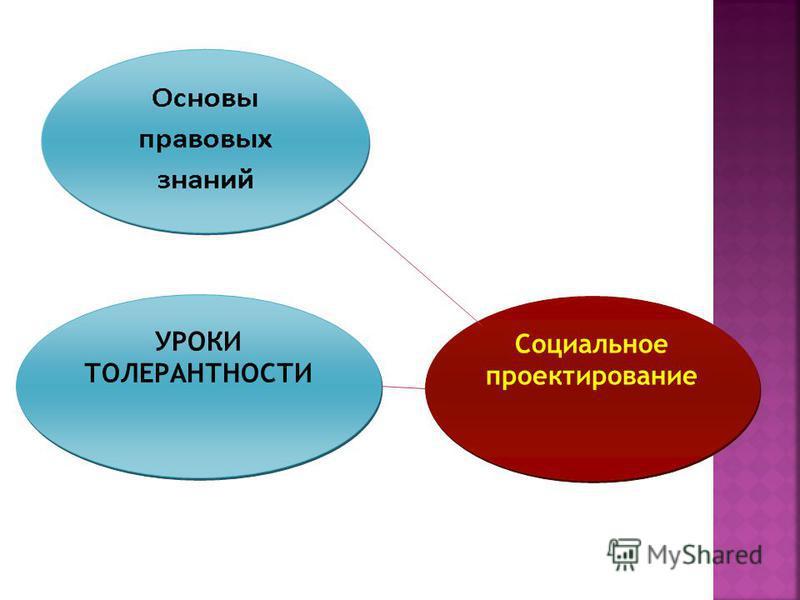 УРОКИ ТОЛЕРАНТНОСТИ Социальное проектирование