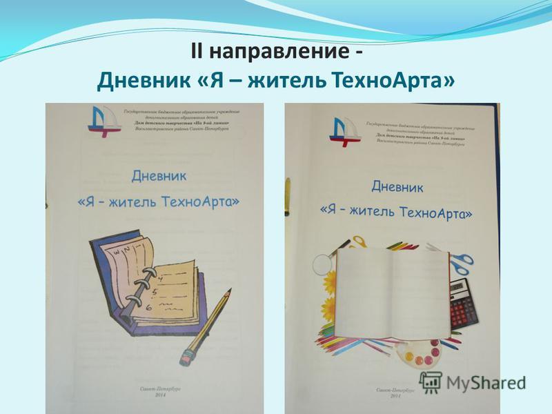 II направление - Дневник «Я – житель Техно Арта»