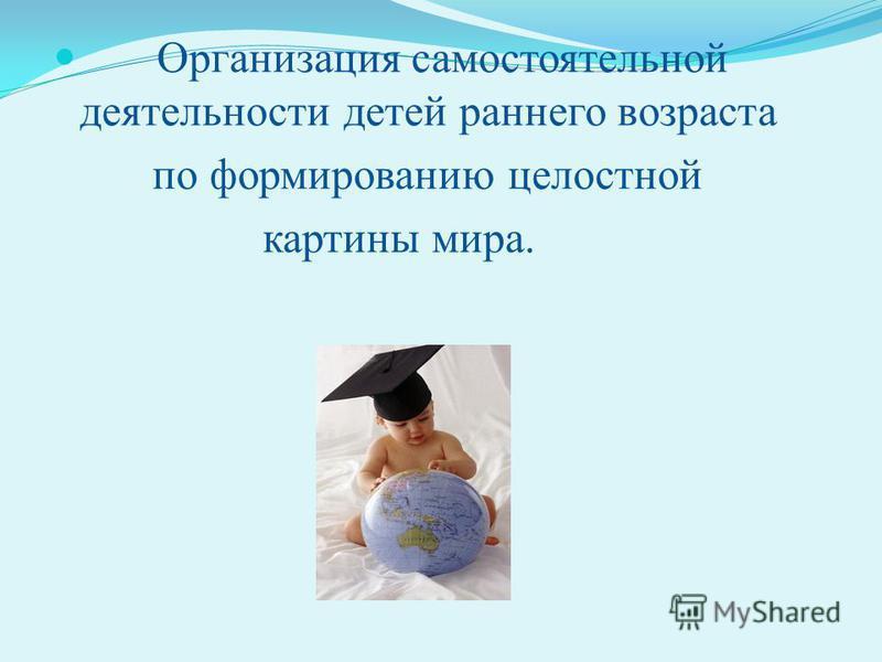 Организация самостоятельной деятельности детей раннего возраста по формированию целостной картины мира.