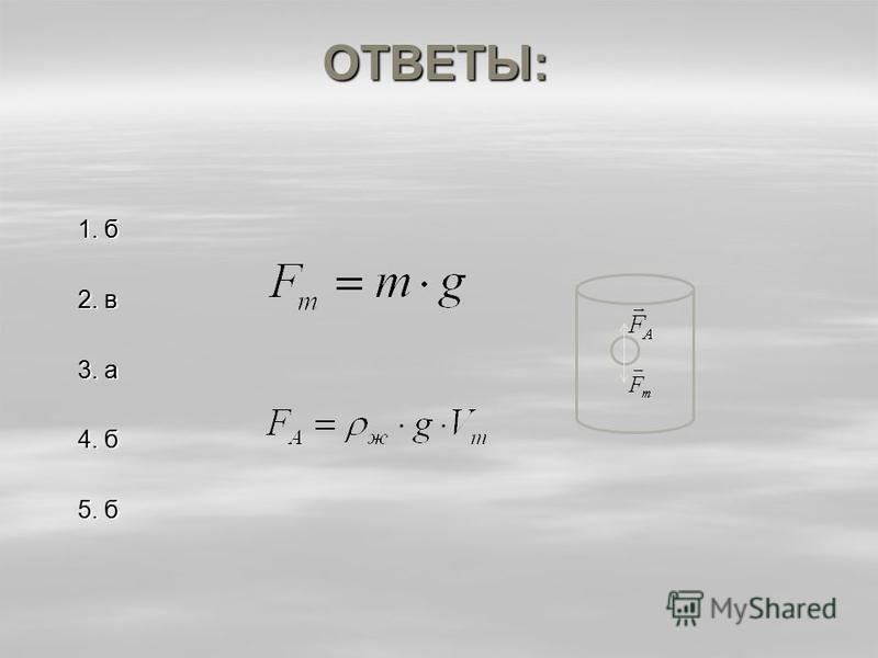ОТВЕТЫ: 1. б 2. в 3. а 4. б 5. б