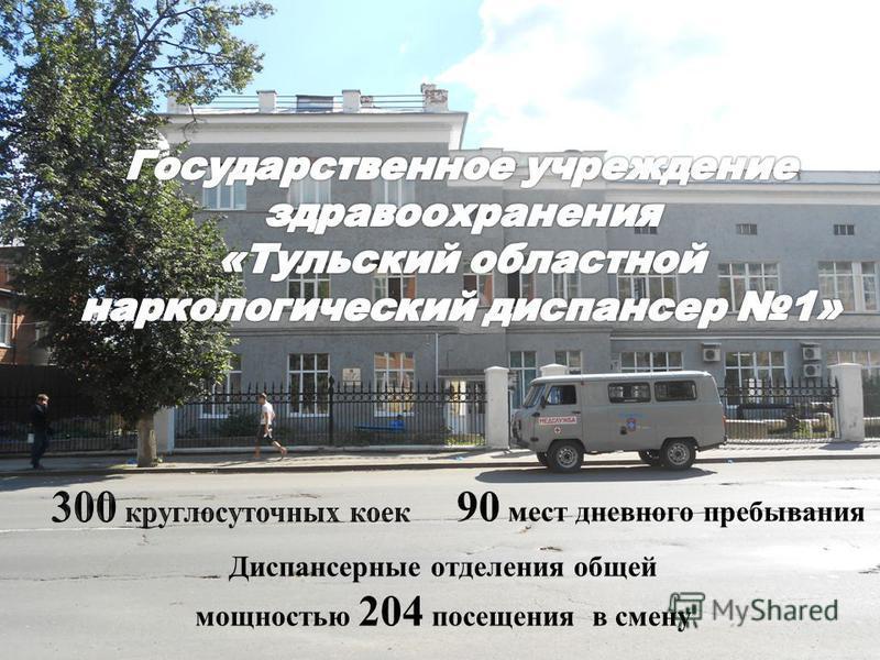 90 мест дневного пребывания Диспансерные отделения общей мощностью 204 посещения в смену