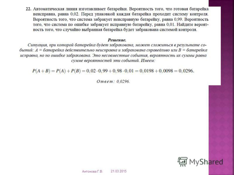 21.03.2015 Антонова Г.В.