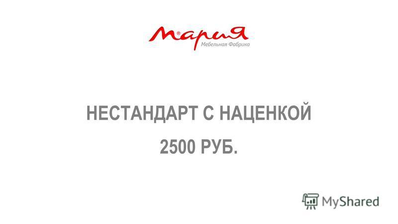 НЕСТАНДАРТ С НАЦЕНКОЙ 2500 РУБ.
