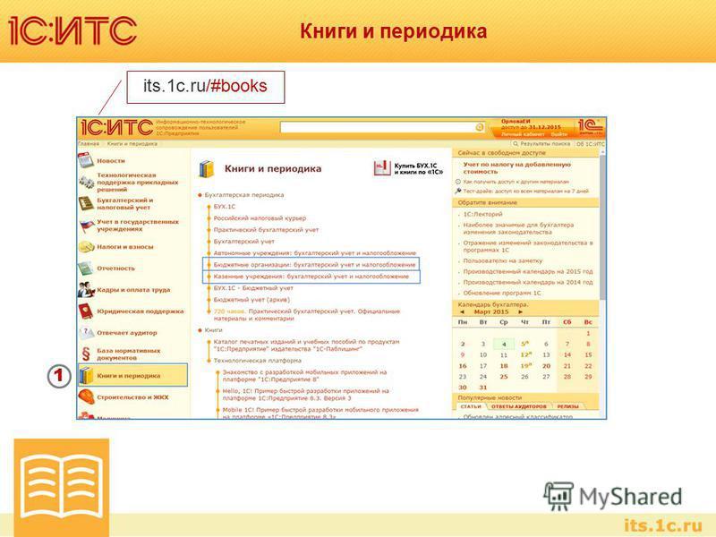 Книги и периодика its.1c.ru/#books 1