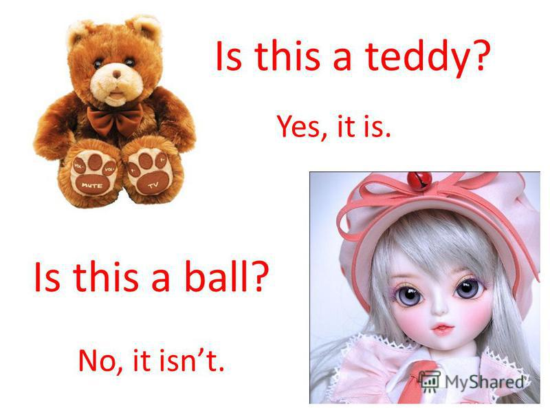 Yes, it is. No, it isnt. Is this a teddy? Is this a ball?