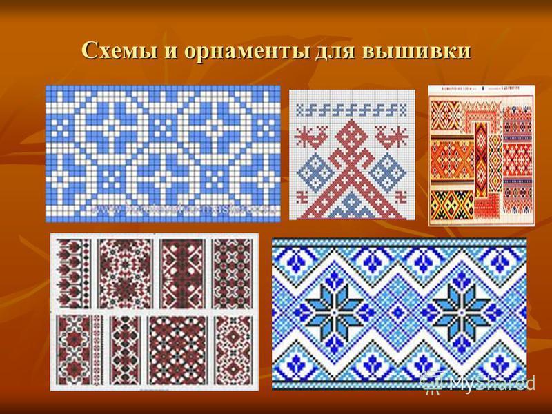 Схемы и орнаменты для вышивки