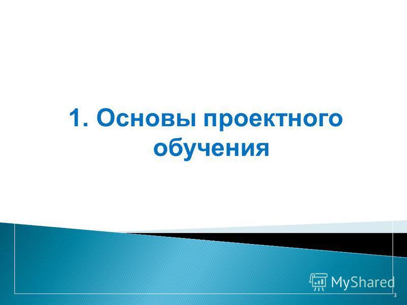 3 1. Основы проектного обучения