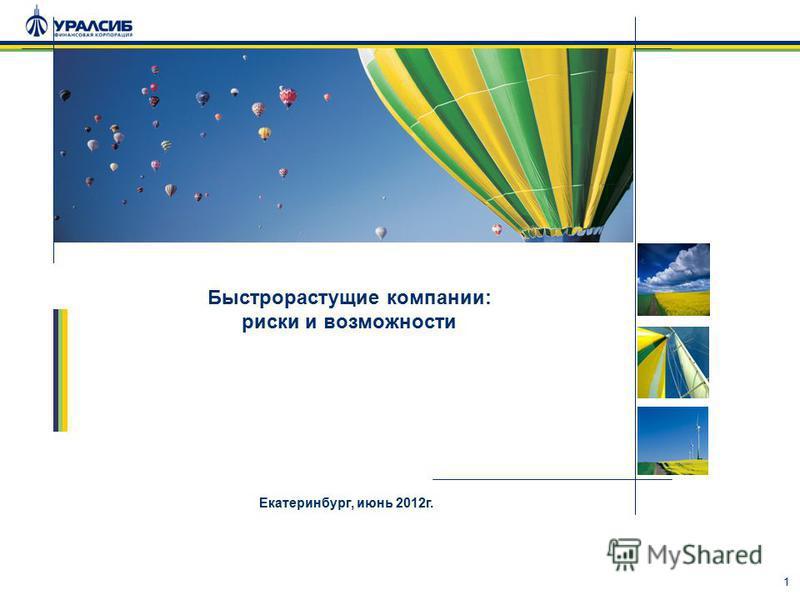 1 Быстрорастущие компании: риски и возможности Екатеринбург, июнь 2012 г.
