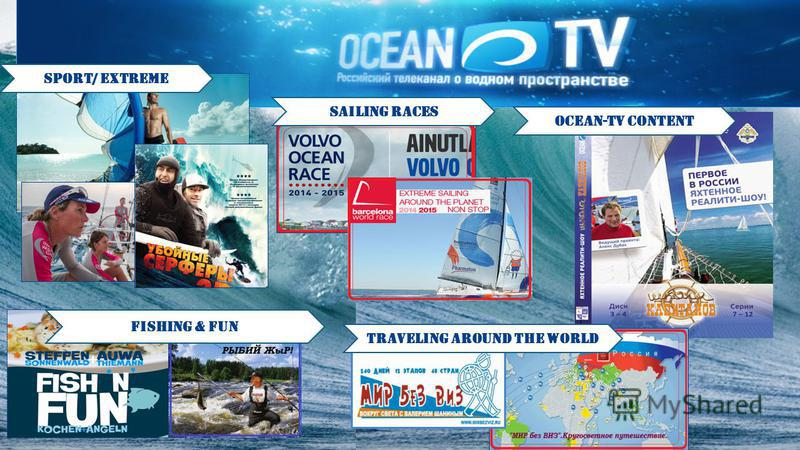 sport/ extreme sailing races ocean-tv content Fishing & fun traveling around the world