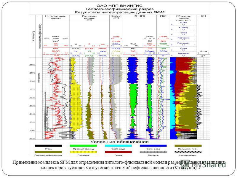 Применение комплекса ЯГМ для определения литолого-флюидальной модели разреза и оценки насыщения коллекторов в условиях отсутствия значимой нефтьнасыщенности (Казахстан)