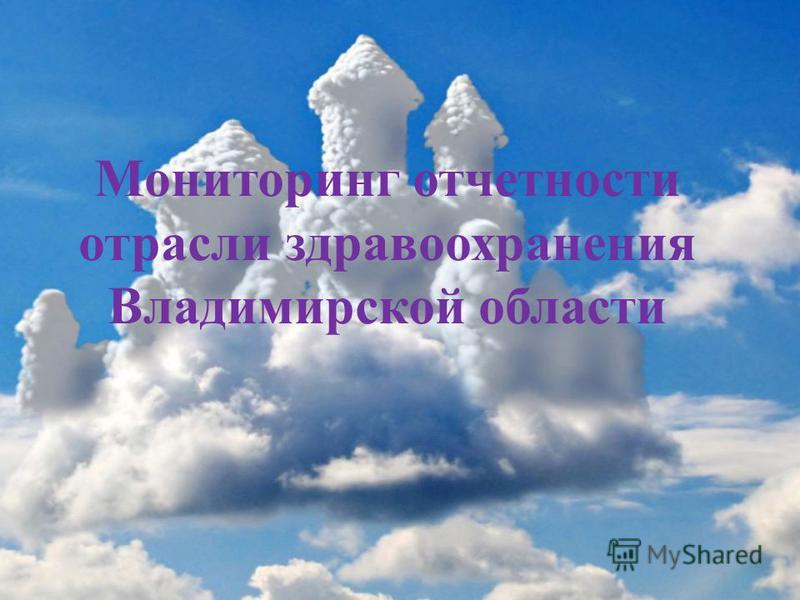 Мониторинг отчетности отрасли здравоохранения Владимирской области