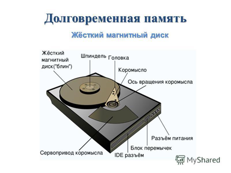 Долговременная память Жёсткий магнитный диск