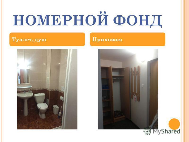 НОМЕРНОЙ ФОНД Туалет, душ Прихожая