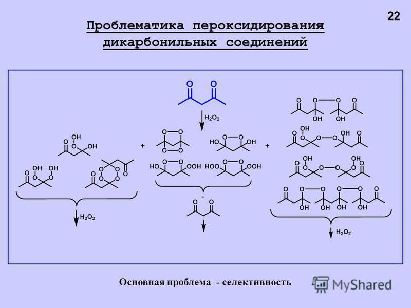 22 Проблематика пер оксидирования дикарбонильных соединений