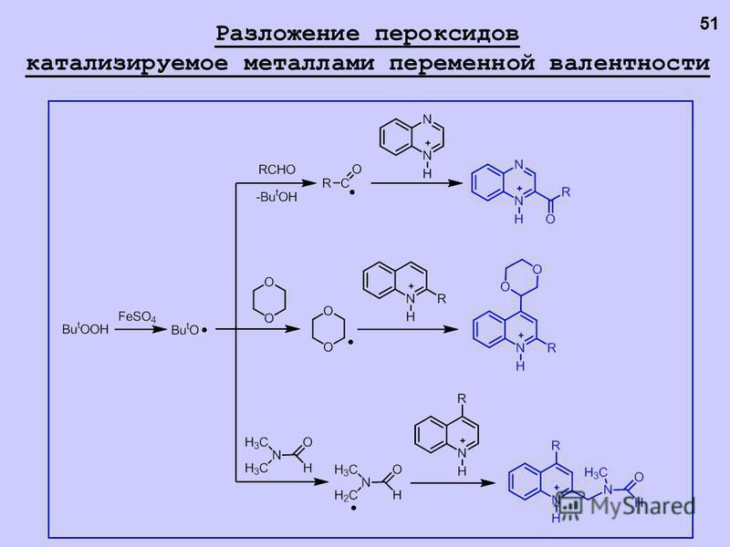 Разложение пероксидов катализируемое металлами переменной валентности 51