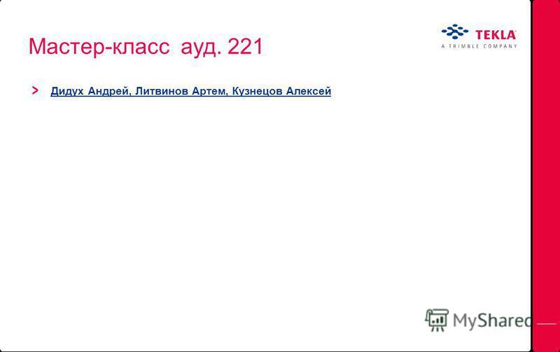 Мастер-класс ауд. 221 Дидух Андрей, Литвинов Артем, Кузнецов Алексей