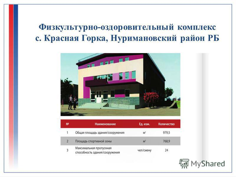 Физкультурно-оздоровительный комплекс с. Красная Горка, Нуримановский район РБ