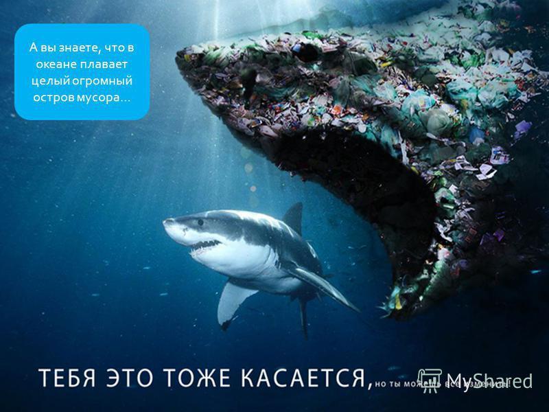 А вы знаете, что в океане плавает целый огромный остров мусора…