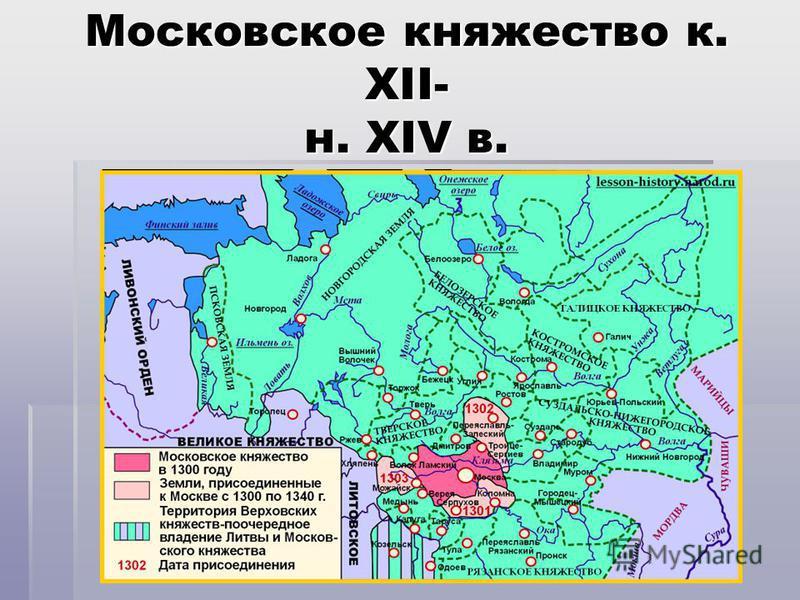 Московское княжество к. XII- н. XIV в.