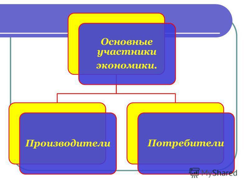 Основные участники экономики. Производители Потребители