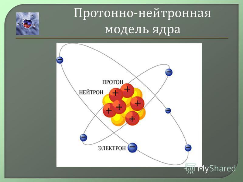 Протонно - нейтронная модель ядура