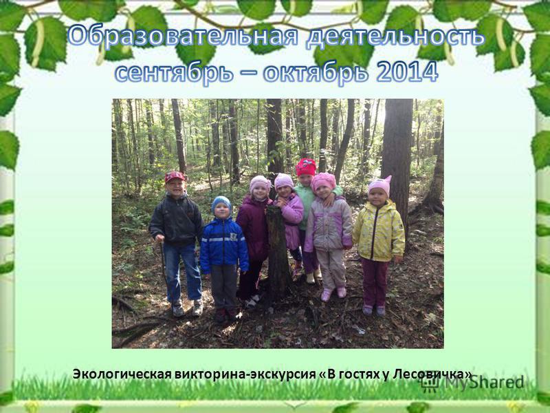 Экологическая викторина-экскурсия «В гостях у Лесовичка»