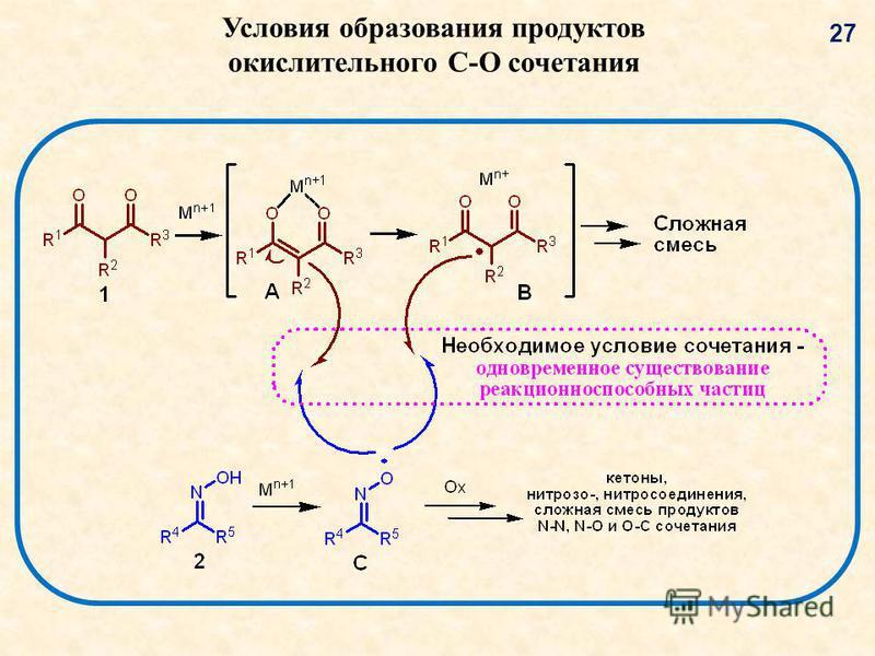 Условия образования продуктов окислительного C-O сочетания 2727