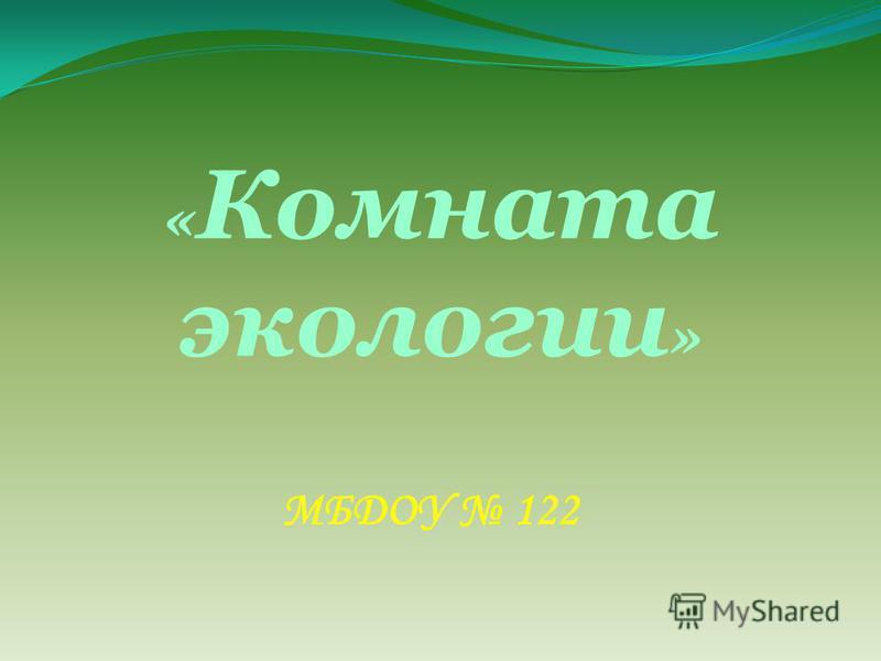 « Комната экологии » МБДОУ 122