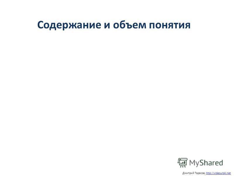 Содержание и объем понятия Дмитрий Тарасов, http://videouroki.nethttp://videouroki.net
